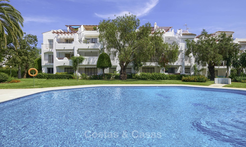 Fully renovated beachside penthouse apartment for sale on the New Golden Mile, between Estepona and Marbella 12812