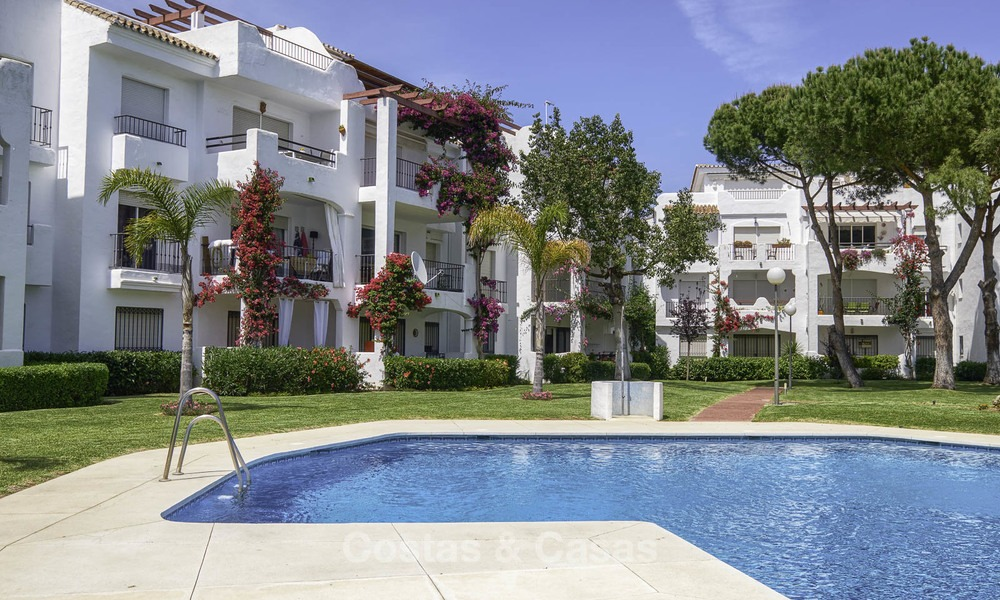 Fully renovated beachside penthouse apartment for sale on the New Golden Mile, between Estepona and Marbella 12813