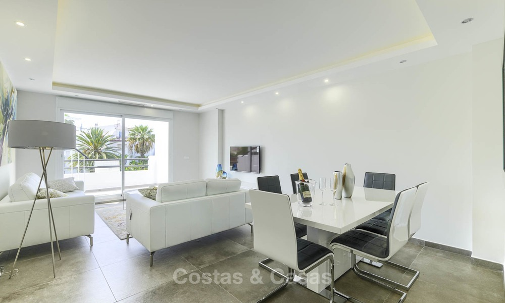 Fully renovated beachside penthouse apartment for sale on the New Golden Mile, between Estepona and Marbella 12818