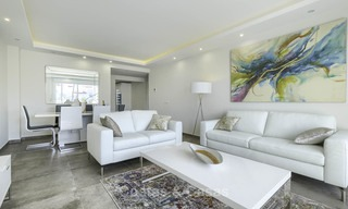 Fully renovated beachside penthouse apartment for sale on the New Golden Mile, between Estepona and Marbella 12822