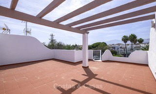 Fully renovated beachside penthouse apartment for sale on the New Golden Mile, between Estepona and Marbella 12835