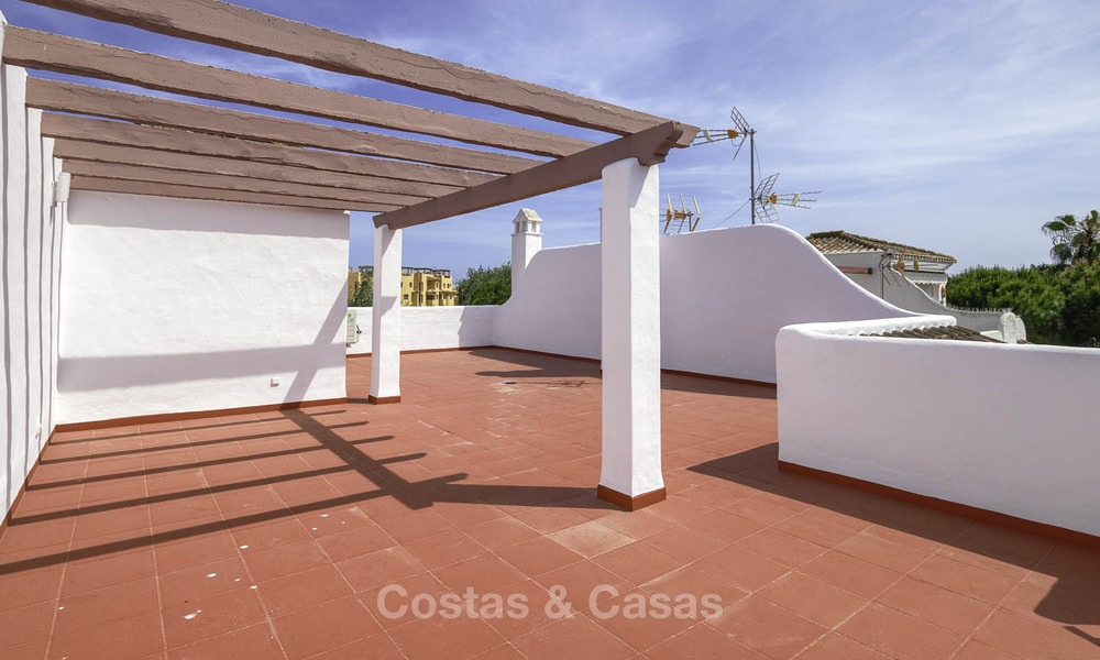 Fully renovated beachside penthouse apartment for sale on the New Golden Mile, between Estepona and Marbella 12837