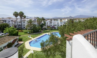 Fully renovated beachside penthouse apartment for sale on the New Golden Mile, between Estepona and Marbella 12838