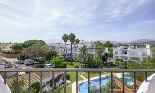 Fully renovated beachside penthouse apartment for sale on the New Golden Mile, between Estepona and Marbella 12839
