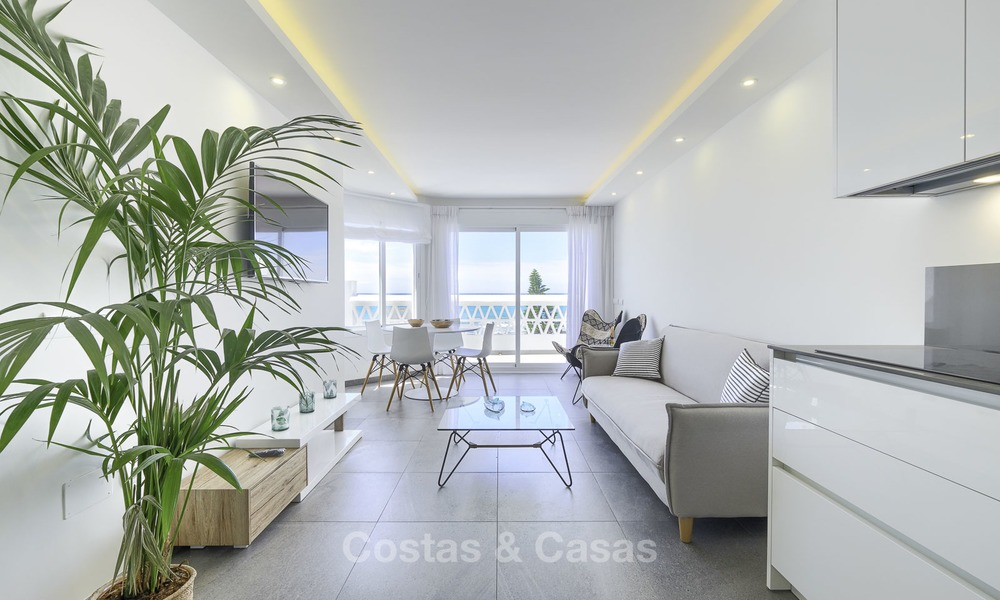 Fully renovated frontline beach penthouse apartment with amazing sea views for sale, Mijas Costa 12888