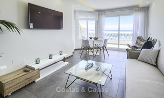 Fully renovated frontline beach penthouse apartment with amazing sea views for sale, Mijas Costa 12893