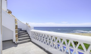 Fully renovated frontline beach penthouse apartment with amazing sea views for sale, Mijas Costa 12895