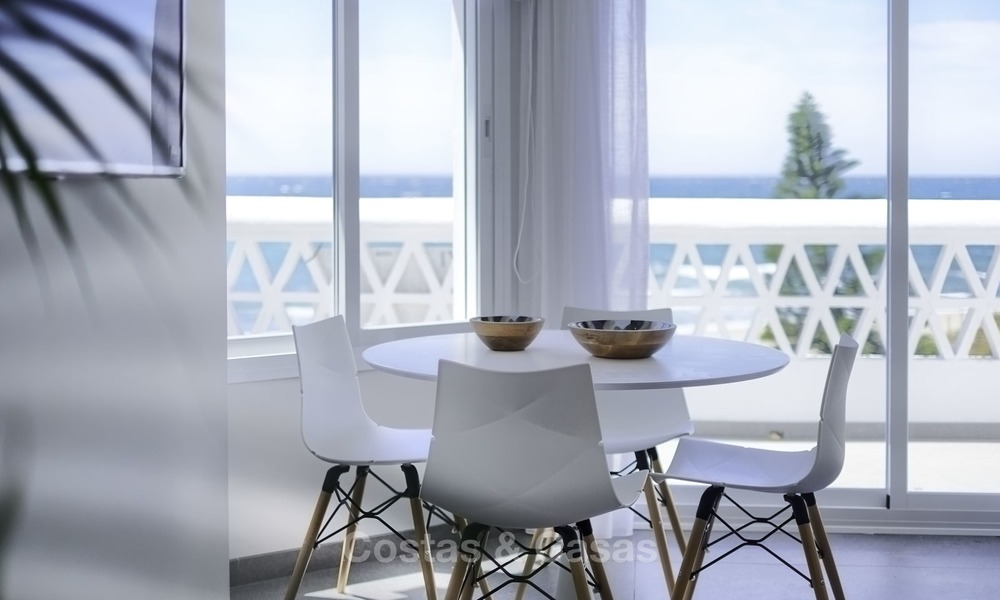 Fully renovated frontline beach penthouse apartment with amazing sea views for sale, Mijas Costa 12903