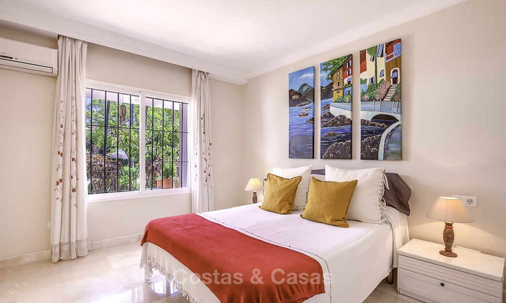 Attractively priced and well located garden apartment for sale, walking distance to the beach, amenities and Puerto Banus - Nueva Andalucia, Marbella 13083