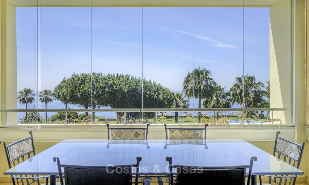 Nice frontline beach apartment with outstanding sea views for sale in a high standard complex, Cabopino, Marbella 12993