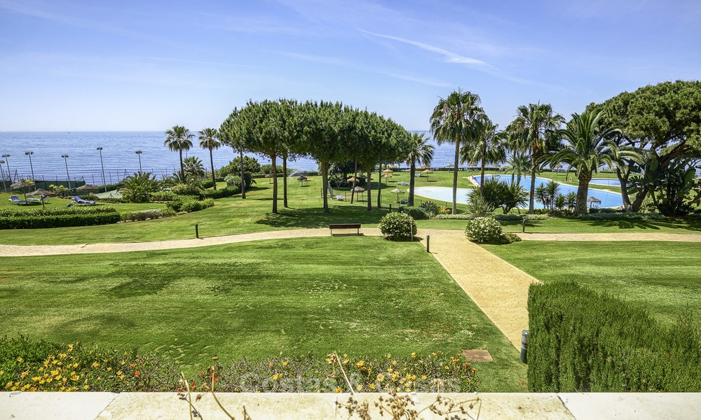 Nice frontline beach apartment with outstanding sea views for sale in a high standard complex, Cabopino, Marbella 12996
