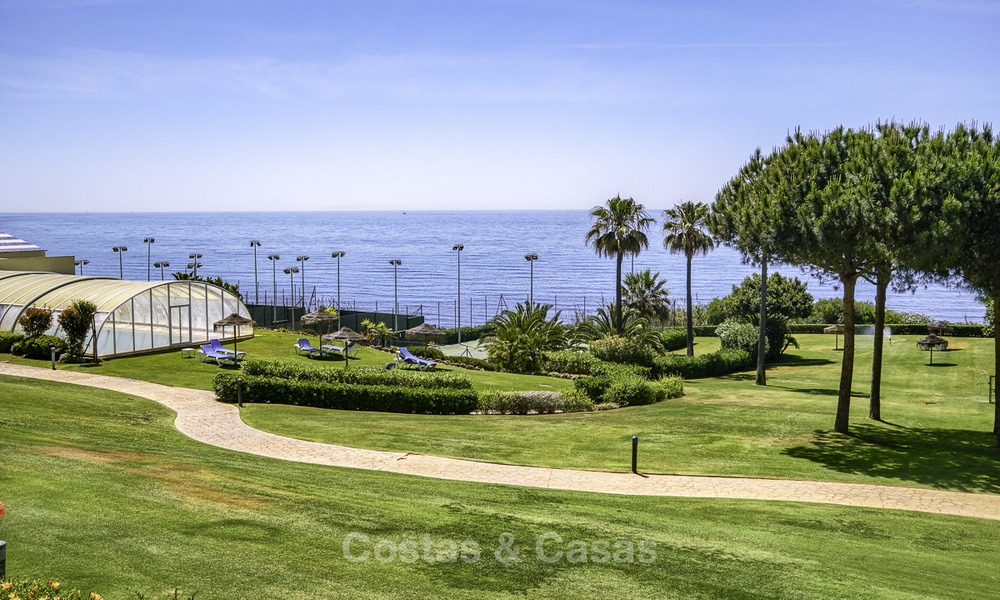 Nice frontline beach apartment with outstanding sea views for sale in a high standard complex, Cabopino, Marbella 12997