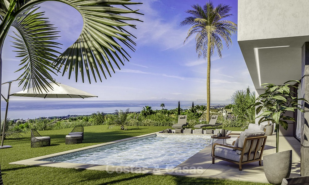 Stylish new modern luxury villas with sea views for sale, Manilva, Costa del Sol 12912