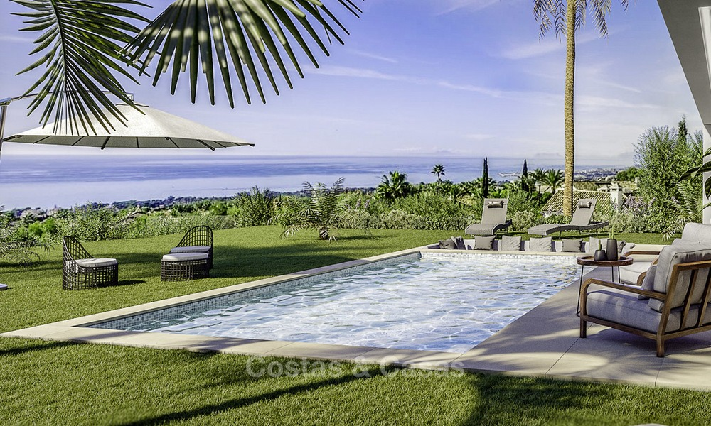 Stylish new modern luxury villas with sea views for sale, Manilva, Costa del Sol 12911
