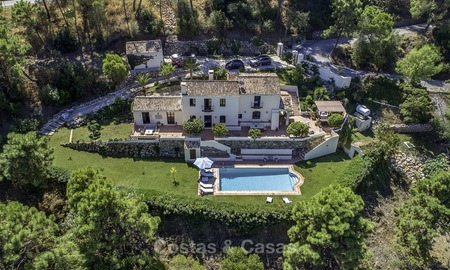 Idyllic traditional villa with amazing countryside views for sale, in the exclusive gated estate of El Madroñal, Benahavis, Marbella 12938