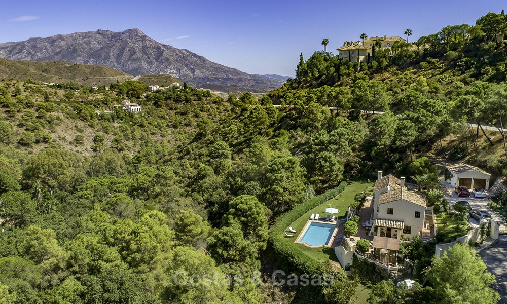 Idyllic traditional villa with amazing countryside views for sale, in the exclusive gated estate of El Madroñal, Benahavis, Marbella 12940