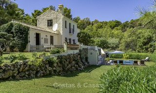 Idyllic traditional villa with amazing countryside views for sale, in the exclusive gated estate of El Madroñal, Benahavis, Marbella 12942