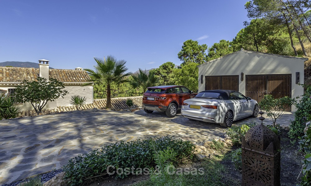 Idyllic traditional villa with amazing countryside views for sale, in the exclusive gated estate of El Madroñal, Benahavis, Marbella 12944