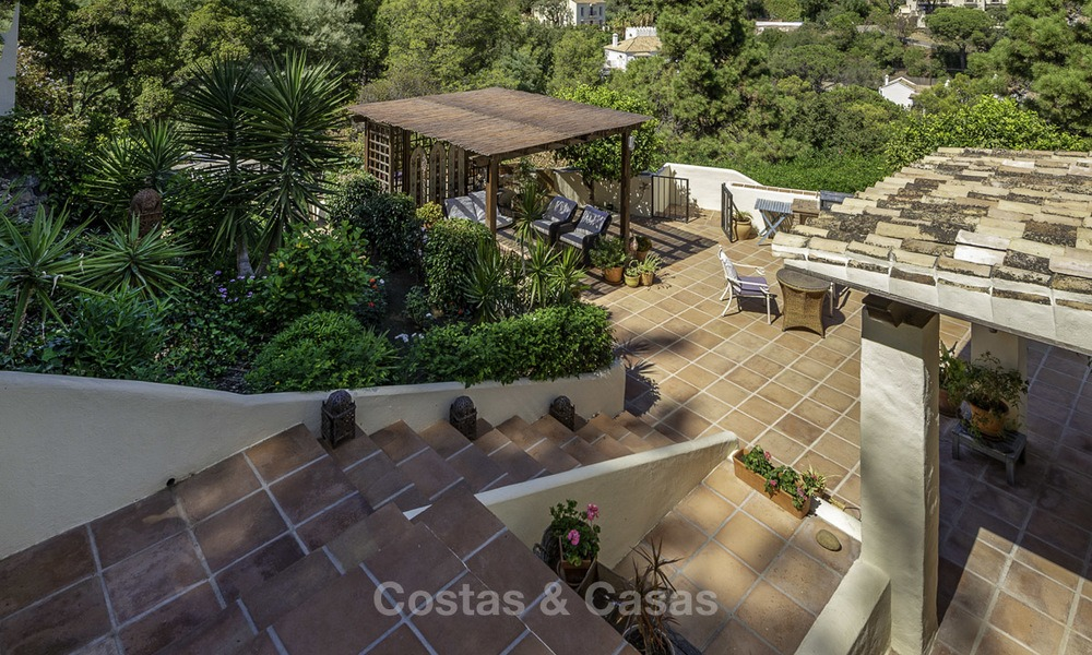 Idyllic traditional villa with amazing countryside views for sale, in the exclusive gated estate of El Madroñal, Benahavis, Marbella 12945