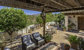 Idyllic traditional villa with amazing countryside views for sale, in the exclusive gated estate of El Madroñal, Benahavis, Marbella 12947