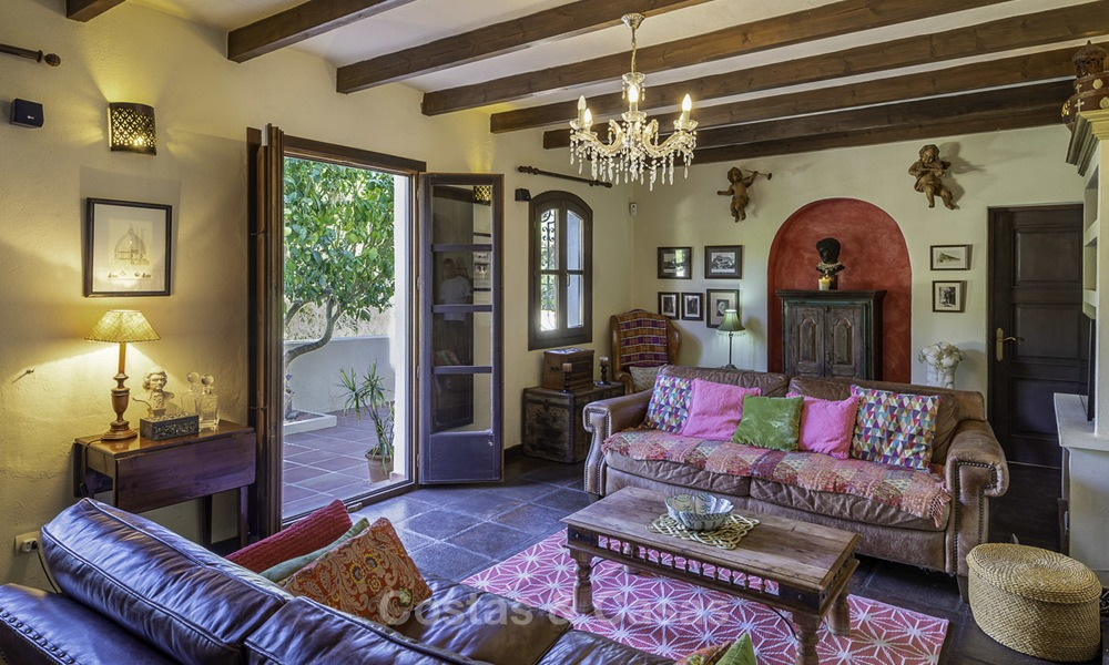 Idyllic traditional villa with amazing countryside views for sale, in the exclusive gated estate of El Madroñal, Benahavis, Marbella 12949