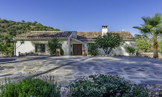 Idyllic traditional villa with amazing countryside views for sale, in the exclusive gated estate of El Madroñal, Benahavis, Marbella 12958