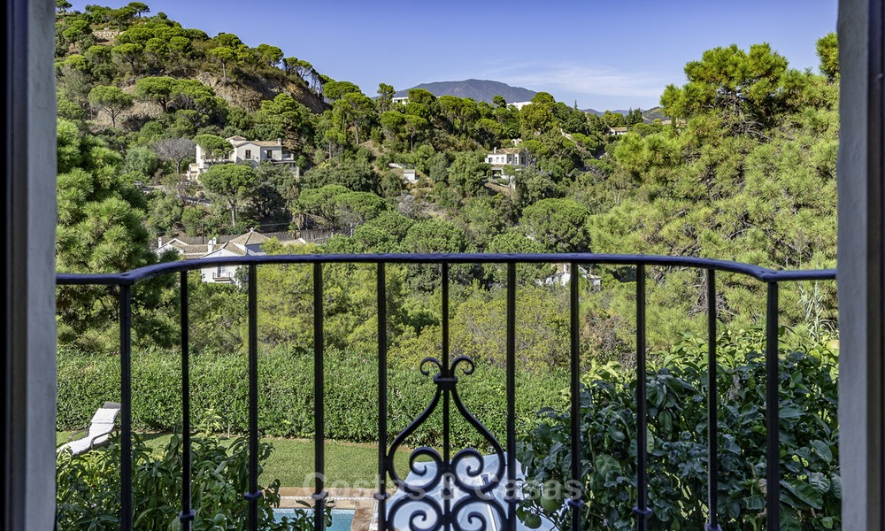 Idyllic traditional villa with amazing countryside views for sale, in the exclusive gated estate of El Madroñal, Benahavis, Marbella 12960