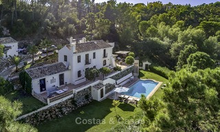 Idyllic traditional villa with amazing countryside views for sale, in the exclusive gated estate of El Madroñal, Benahavis, Marbella 12964