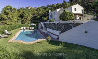 Idyllic traditional villa with amazing countryside views for sale, in the exclusive gated estate of El Madroñal, Benahavis, Marbella 12965