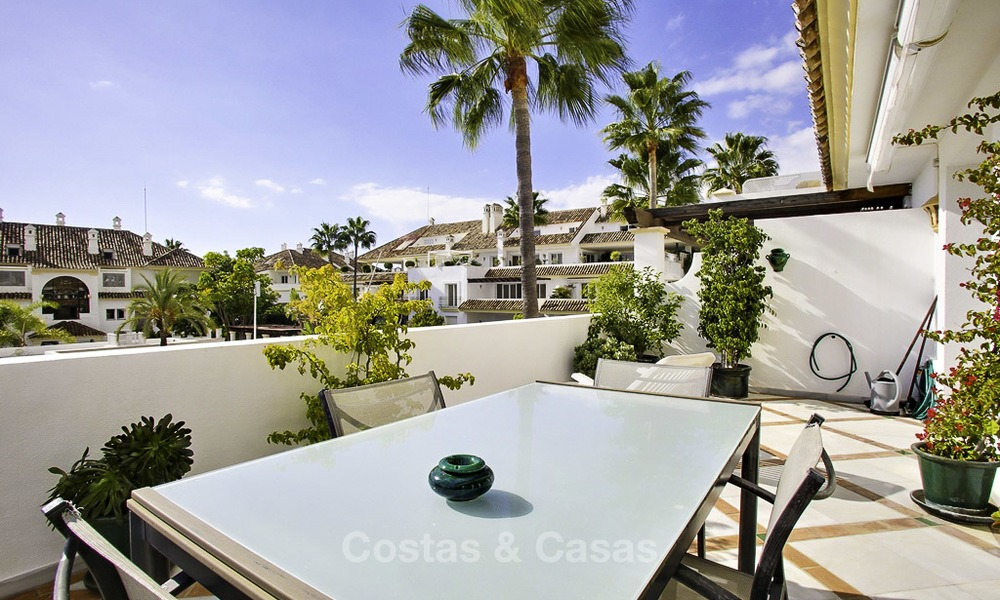 Spacious apartment with panoramic sea views for sale, in a prestigious complex on the Golden Mile, Marbella 13152