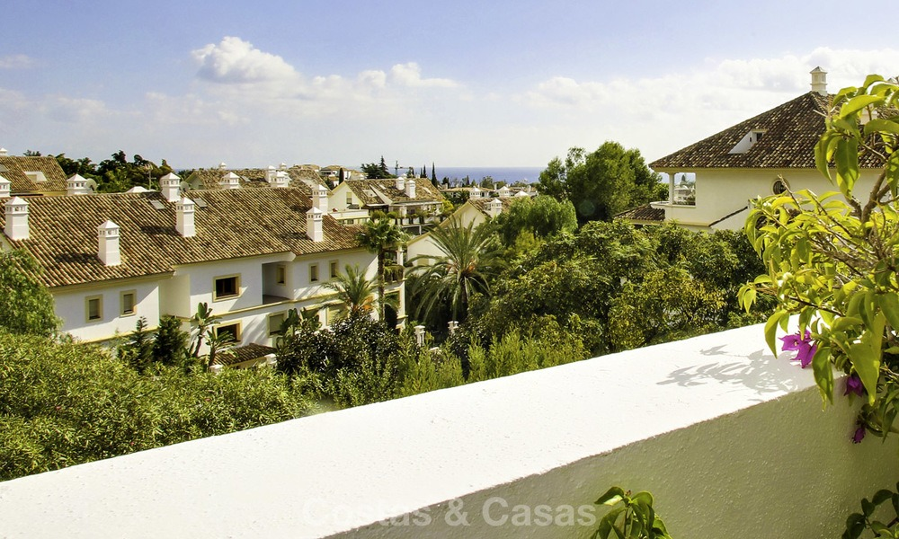 Spacious apartment with panoramic sea views for sale, in a prestigious complex on the Golden Mile, Marbella 13155