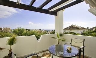 Spacious apartment with panoramic sea views for sale, in a prestigious complex on the Golden Mile, Marbella 13156