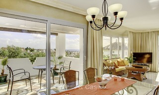 Spacious apartment with panoramic sea views for sale, in a prestigious complex on the Golden Mile, Marbella 13159