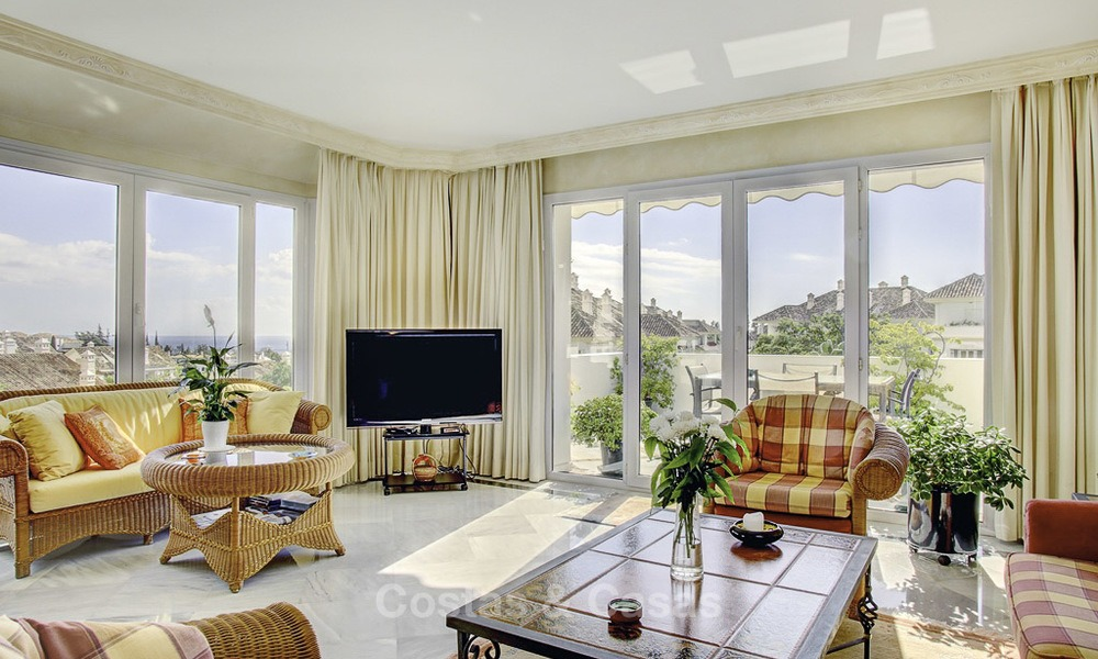 Spacious apartment with panoramic sea views for sale, in a prestigious complex on the Golden Mile, Marbella 13161