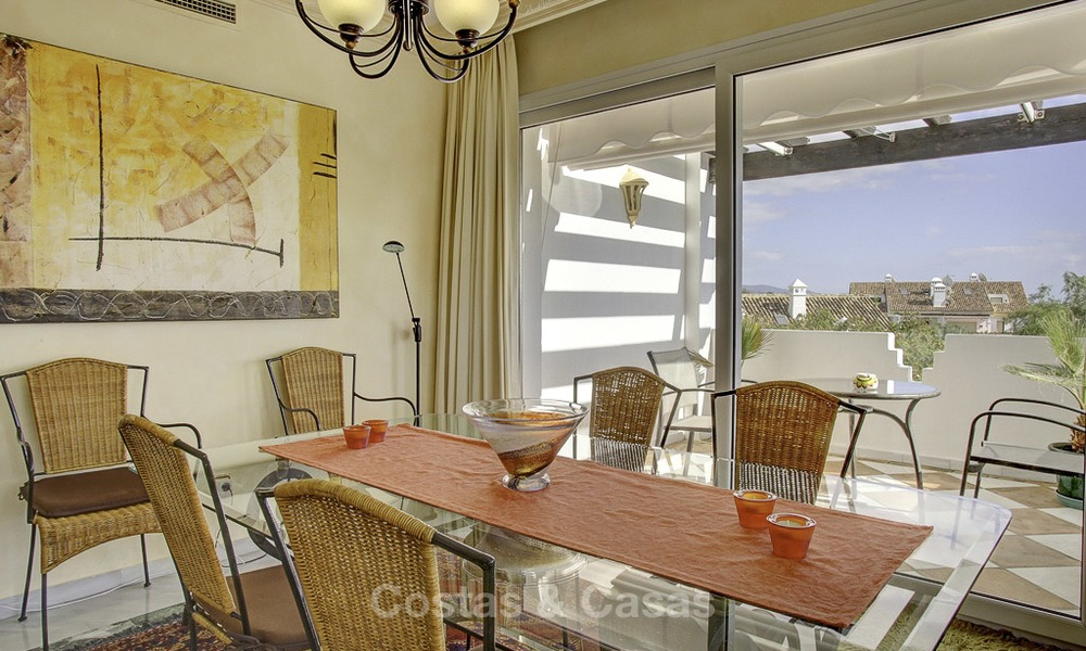 Spacious apartment with panoramic sea views for sale, in a prestigious complex on the Golden Mile, Marbella 13162