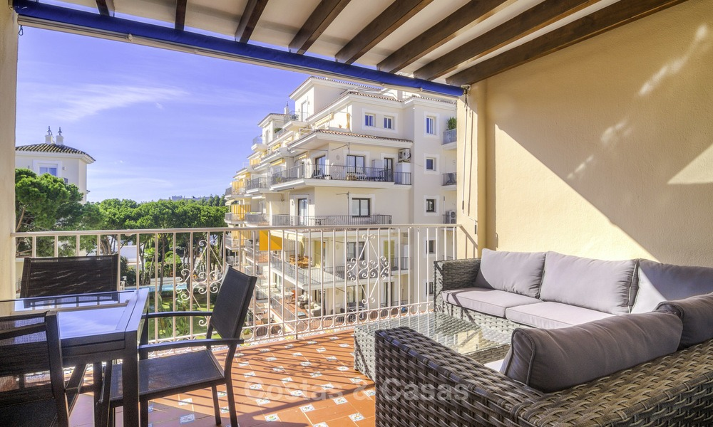 Attractive penthouse apartment with amazing sea views in a frontline beach complex for sale, Puerto Banus, Marbella 13249