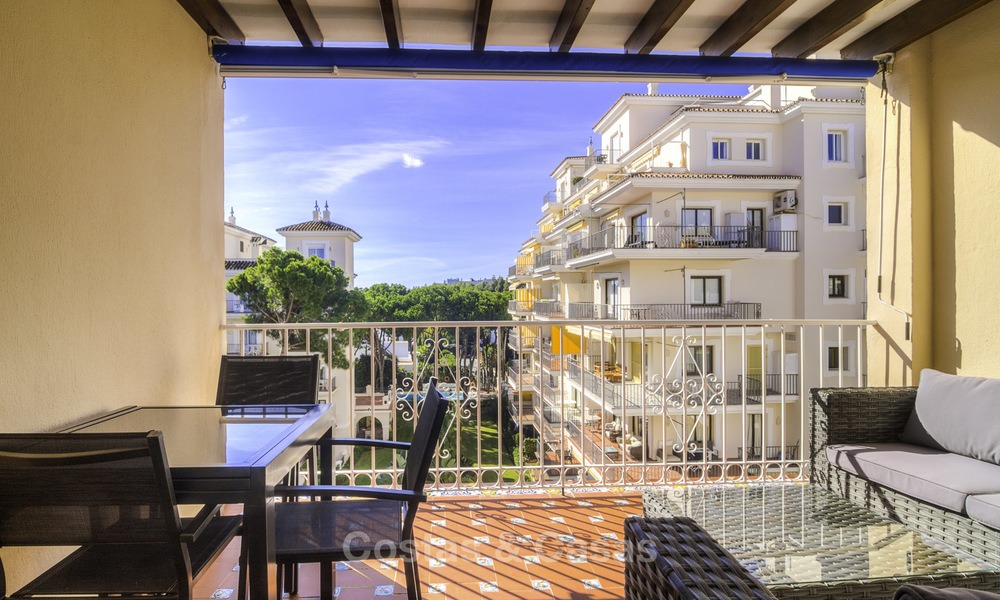 Attractive penthouse apartment with amazing sea views in a frontline beach complex for sale, Puerto Banus, Marbella 13250