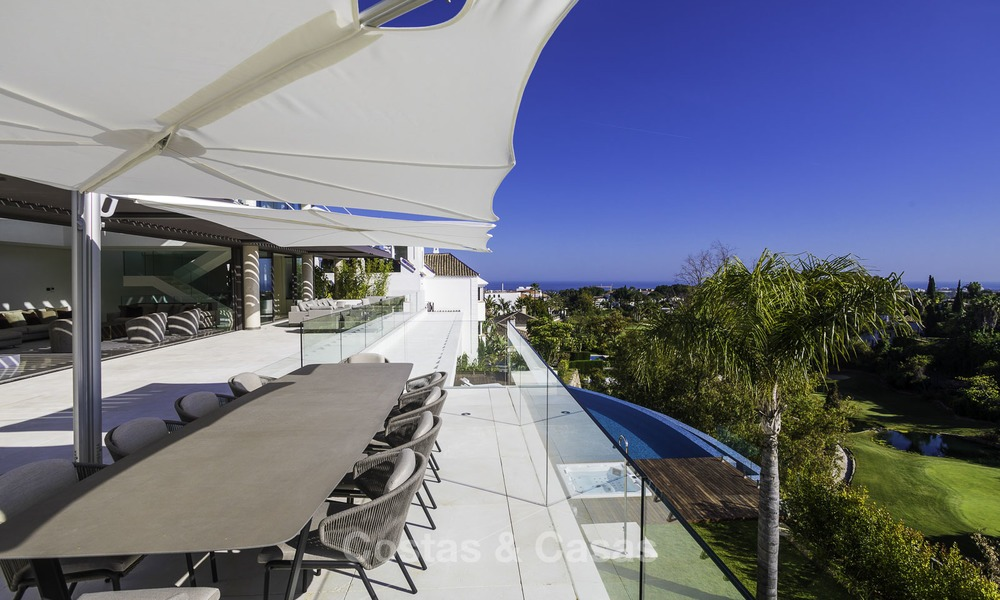 Brand new modern luxury villa with golf and sea views for sale, ready to move into, in a posh golf resort in Nueva Andalucia, Marbella - Benahavis 13256