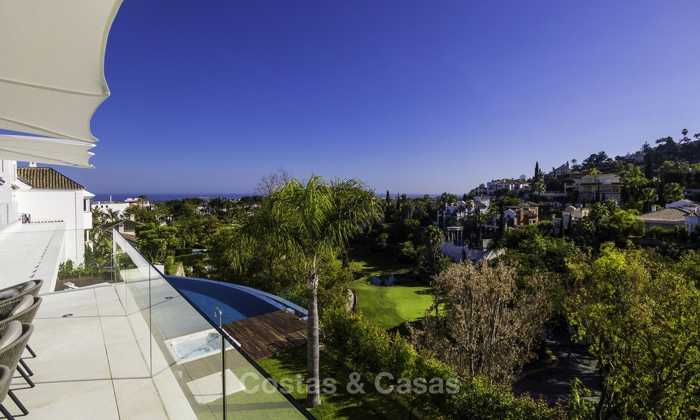Brand new modern luxury villa with golf and sea views for sale, ready to move into, in a posh golf resort in Nueva Andalucia, Marbella - Benahavis 13257