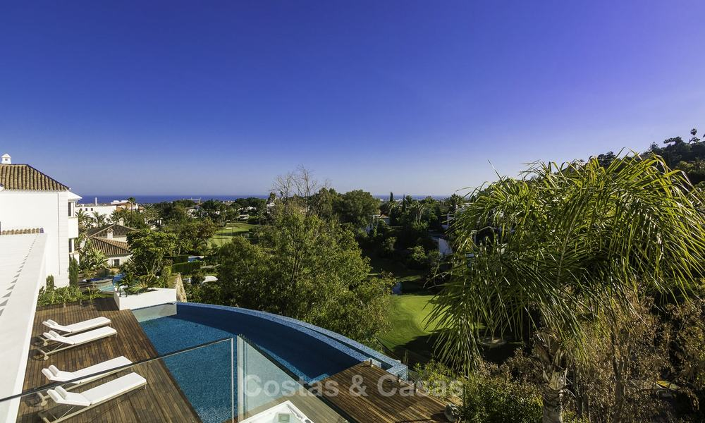 Brand new modern luxury villa with golf and sea views for sale, ready to move into, in a posh golf resort in Nueva Andalucia, Marbella - Benahavis 13261