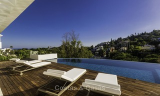 Brand new modern luxury villa with golf and sea views for sale, ready to move into, in a posh golf resort in Nueva Andalucia, Marbella - Benahavis 13266