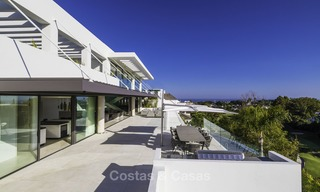 Brand new modern luxury villa with golf and sea views for sale, ready to move into, in a posh golf resort in Nueva Andalucia, Marbella - Benahavis 13270