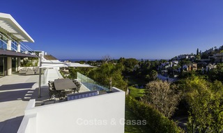 Brand new modern luxury villa with golf and sea views for sale, ready to move into, in a posh golf resort in Nueva Andalucia, Marbella - Benahavis 13271