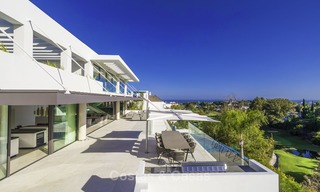 Brand new modern luxury villa with golf and sea views for sale, ready to move into, in a posh golf resort in Nueva Andalucia, Marbella - Benahavis 13272