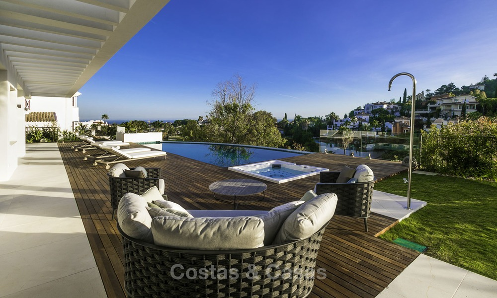 Brand new modern luxury villa with golf and sea views for sale, ready to move into, in a posh golf resort in Nueva Andalucia, Marbella - Benahavis 13277