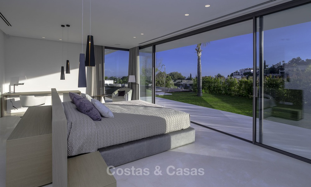 Brand new modern luxury villa with golf and sea views for sale, ready to move into, in a posh golf resort in Nueva Andalucia, Marbella - Benahavis 13278