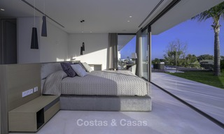 Brand new modern luxury villa with golf and sea views for sale, ready to move into, in a posh golf resort in Nueva Andalucia, Marbella - Benahavis 13279