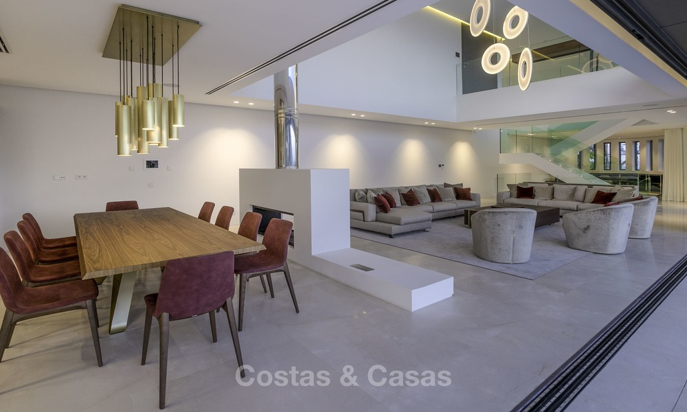 Brand new modern luxury villa with golf and sea views for sale, ready to move into, in a posh golf resort in Nueva Andalucia, Marbella - Benahavis 13286