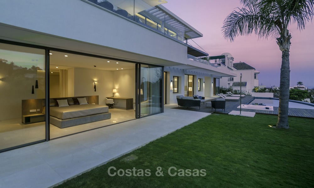 Brand new modern luxury villa with golf and sea views for sale, ready to move into, in a posh golf resort in Nueva Andalucia, Marbella - Benahavis 13294