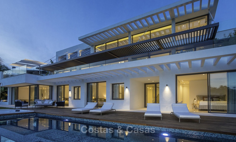 Brand new modern luxury villa with golf and sea views for sale, ready to move into, in a posh golf resort in Nueva Andalucia, Marbella - Benahavis 13295
